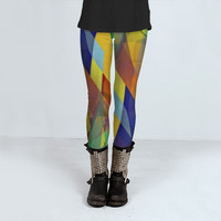 Plaid Gone Bad by Fringeman Abstracts (Leggings)