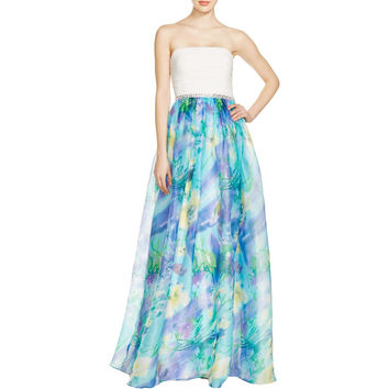 JS Boutique Womens Floral Print Prom Evening Dress