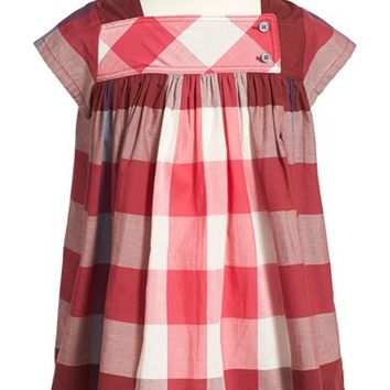 Toddler Girl's Burberry 'Paisley' Check Cotton Dress,