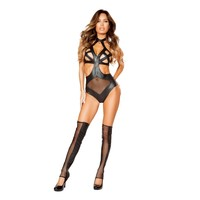 Roma RM-LI185 Crisscross Zip-Up Teddy