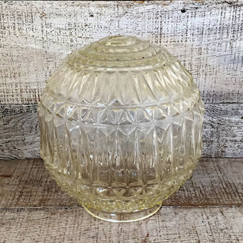Ceiling Lamp Shade Glass Lamp Shade Ceiling Light Globe Art Deco Lamp Shade Glass Pendant Light Globe Antique Light Fixture Mid Century