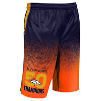 Denver Broncos Official NFL Superbowl 50 Champions Training Shorts