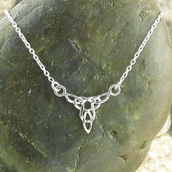 Intricate Trinity Celtic Knot Necklace