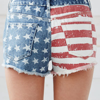 Bullhead Denim Co. American Flag High Rise Cutoff Denim Shorts at PacSun.com