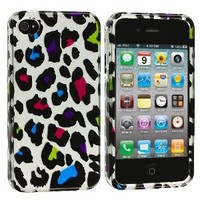 MYBAT IPHONE4HPCIM614NP Slim and Stylish Protective Case for iPhone 4 - 1 Pack - Retail Packaging - Colorful Leopard