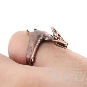 Pterodactyl Dinosaur Shaped Animal Ring in Copper | US Size 5 to 9