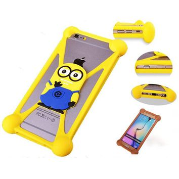 Cartoon  Minnie Minions Stitch Sulley Soft Silicon Rubber Case Back Cover For Huawei Honor Bee/Huawei Y5C Ascend Y541 Y541-U02