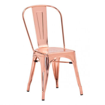 Allete Dining Chair | Rose Gold
