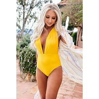 Starburst One Piece Swimsuit (Yellow)