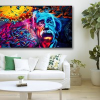 Abstract Framed Canvas Wall Art Poster