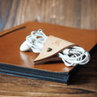 Leather Cord Holder - handmade, cord organizer, Earbud Cable Organizer, Earphone, Headphone, cable ties, cable tidy, gifts #Natural Nude