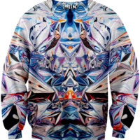☮♡ Silver Blue Holographic Sweater ✞☆