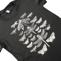 Moth Butterfly Dragonfly T-Shirt - Winged Insect Collection American Apparel Womens Shirt - (Available in sizes S, M, L, XL)