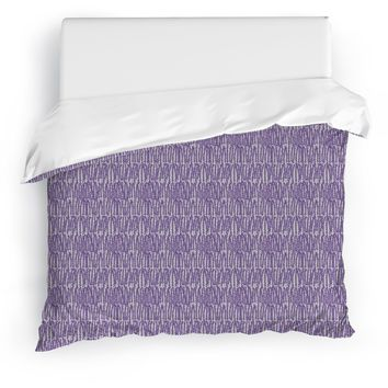 CLUSTER PURPLE Duvet Cover By Tiffany Wong
