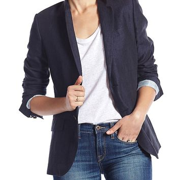 Lucky Brand Ideal Blazer Womens - American Navy
