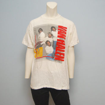 "Vintage Van Halen ""5150"" North American Tour 1986 Band T-Shirt - Straight Jackets - Screen Stars Size XL"