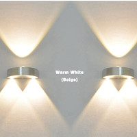 Indoor 3W Led Wall Lamp Ac110V/220V Bedroom Decorate Wall Light Sconce Bathroom Acrylic Mirror Front Lamp Light Shipping