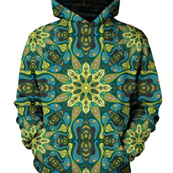 Lilypads Psychedelic Mandala Pullover Hoodie