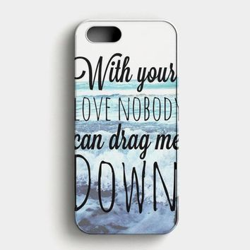 One Direction Drag Me Down Lyric iPhone SE Case