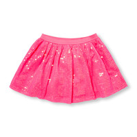 Toddler Girls Neon Mesh Sequin Skirt | The Children's Place
