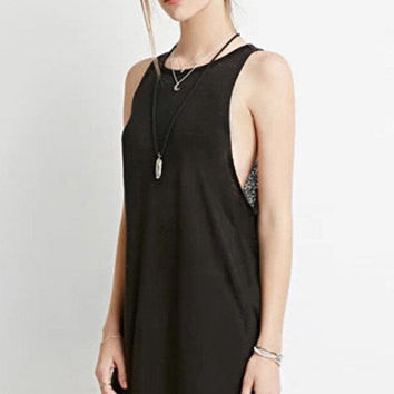 Black Sleeveless A-Line Mini Dress