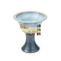 Tall Pedestal Jewelry Bowl | earring organizer