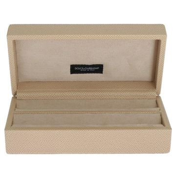 Beige Leather Jewelry Accessory Case