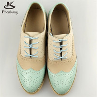 Vintage British Style Oxford Shoes