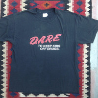 Real Vintage DARE To Keep Kids Off Drugs X-Large Tee Shirt