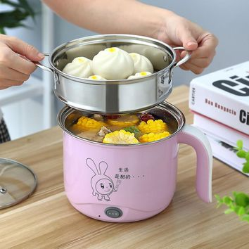 220V Multifunctional Electric Cooker High Quality Stainless Steel Inner With Steamer 2 Layers Multi Cooker Hot  EU/AU/UK Plug