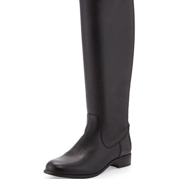 Sarit Back-Zip Leather Boot, Black - La Canadienne