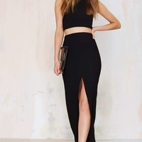 SolaceLondon Sarah Ribbed Maxi Skirt