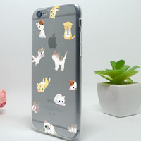Cute cat mobile phone case for iphone 7 5c 5 5s SE 6 6s 6plus 6s plus + Nice gift box