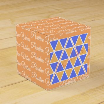 Positive Vibes Funky Triangles Pyramids Gift Box