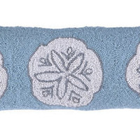 Coastal Home Decor & Gifts - Shop of the Sea — Sand Dollar Wool Hooked Pillow