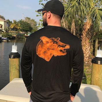 Black Boar Hog UPF Dry Fit Long Sleeve Tee