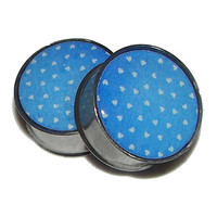 """Country Heart Pattern Plugs - 1 Pair - Sizes 2g, 0g, 00g, 7/16"""", 1/2"""", 9/16"""", 5/8"""", 3/4"""", 7/8"""" & 1"""""""