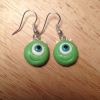 Mike Wazowski of Monsters INC Earrings