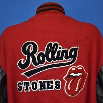 90s Rolling Stones Bridges to Babylon Letterman Jacket Extra Large