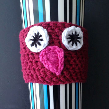 Maroon Owl Cup Cozy for a Standard Size To-Go Cup; More Available in our Shop!
