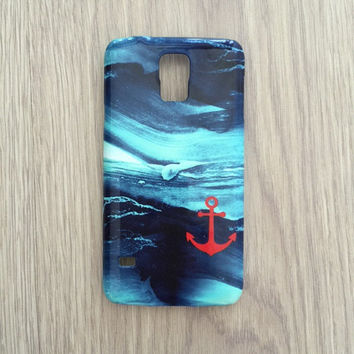 Anchor wave ocean iphone 6 case / iphone 6 plus case / Samsung galaxy S6 case / Samsung galaxy S5 case / iphone 4 5S 5C, S4 note 3 note 4