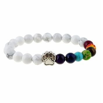 7 Color Chakra Healing Beads Lava Braclet Women