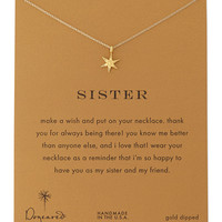 Sisters Wishing Star Gold-Dipped Necklace - Dogeared - Gold