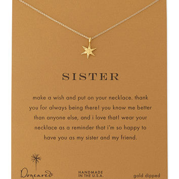 Sisters Wishing Star Gold-Dipped Necklace - Dogeared