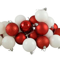 "24 Christmas Ball Ornaments - 2.5 ""  - Red"