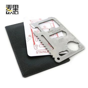 Stainless steel multi-purpose military knife card Swiss Army knife card universal life-saving card camping tool card kni