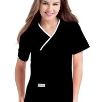 Urbane Double Pocket Crossover Top | My Nursing Uniforms