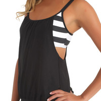 Next - Lined Up Double Up Tankini (Black)