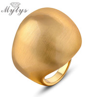 Mytys Trendy Gold Plated Anniversary Rings For Women R869