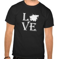 Love Asia Continent Tee Shirt